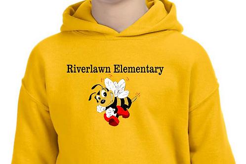 Youth Hoodie - Riverlawn Elementary  Bee in Matte Vinyl