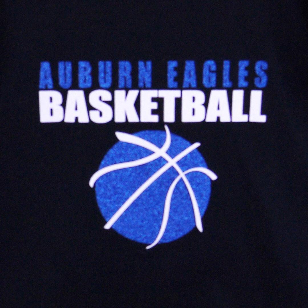 close up auburn eagles - blue basketball square