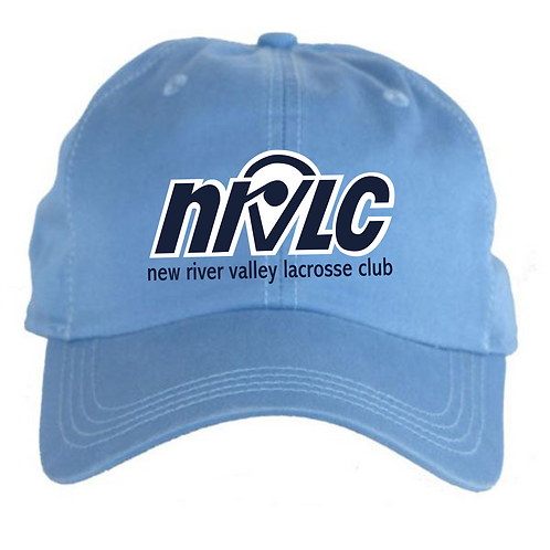 NRVLC 6-Panel Structured Twill Carolina Blue Cap with Embriodered Logo