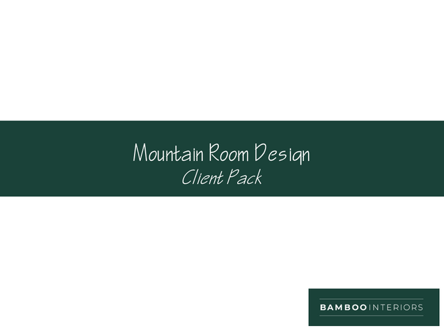 Children's Mountain Room Design