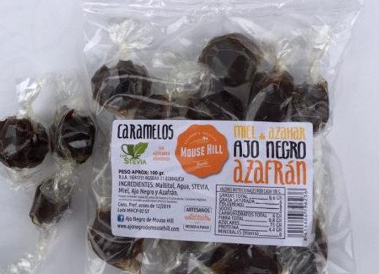Caramelos de Miel, Ajo Negro y Azafrán