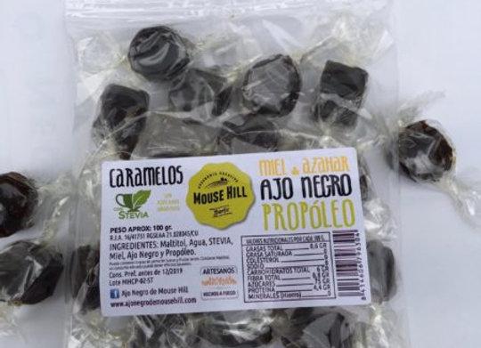 Caramelos de Miel de Azahar, Ajo Negro y Propóleo
