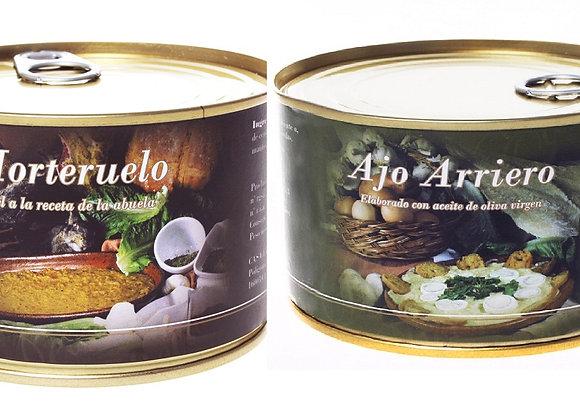 MORTERUELO 2 latas de 250g. + AJO ARRIERO 2 latas de 250g