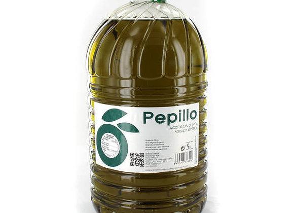 Aceite oliva virgen extra Pepillo. 5 litros
