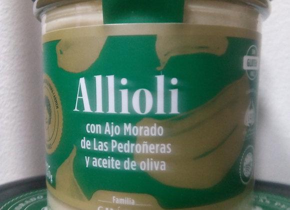 Allioli con ajo morado de Las Pedroñeras y aceite de oliva