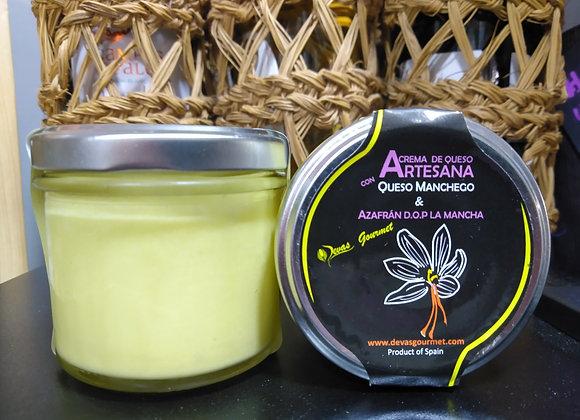 Crema de Queso Artesana con Queso Manchego & Azafrán