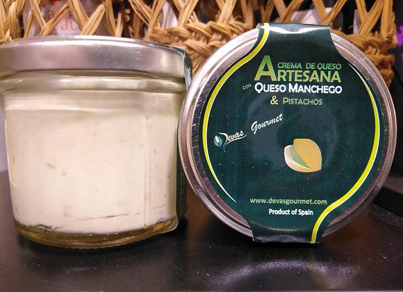 Crema de Queso Artesana con Queso Manchego & Pistachos