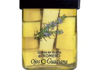 Queso en Aceite  de oliva al Romero. Ojos del Guadiana