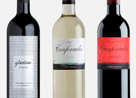 3 botellas. Gladium Viñas Viejas+Canforrales Crianza+Canforrales Lucia