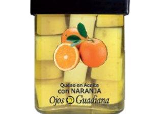 Queso en Aceite  de oliva con Naranja.Ojos del Guadiana