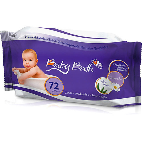 LENÇOS UMEDECIDOS C/ 72UN - BABY BATH