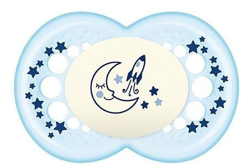 CHUPETA MAM NIGHT (6+ MESES) - AZUL - MAM