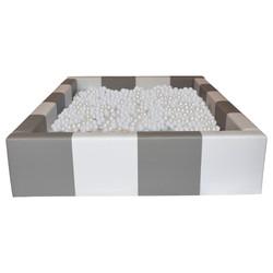 Grey & White Rectangle Ball Pool 6ft