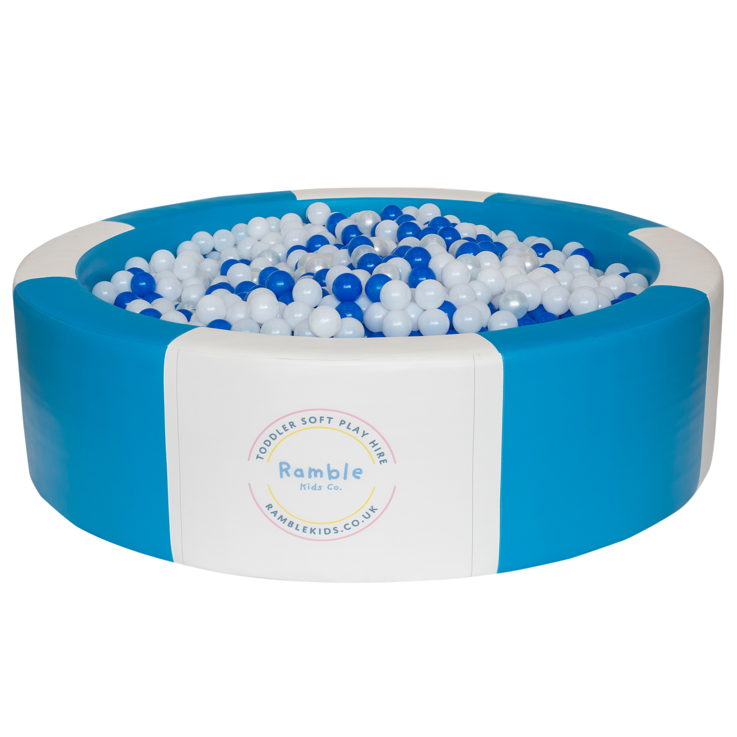 Blue & White Ball Pool 8ft