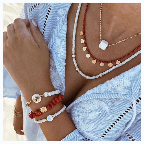 ♥️ Red Coral Bracelet