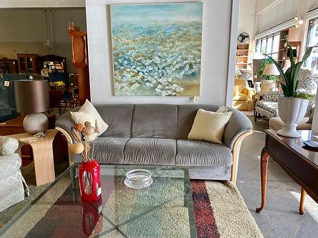 Ekornes Sofa, Original Painting Barbara Forggeti