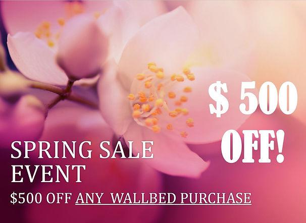 Spring Sale $500 OFF Wallbeds.JPG
