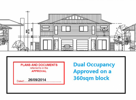 Dual Occupancy Approval on 360sqm block, Ascot