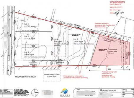 Development approval for land subdivision (1 into 5 lots plus easements) in Ipswich
