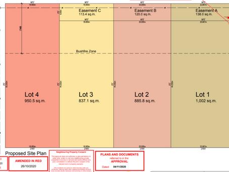 布里斯班南区土地分割1 into 4 lots DA批准