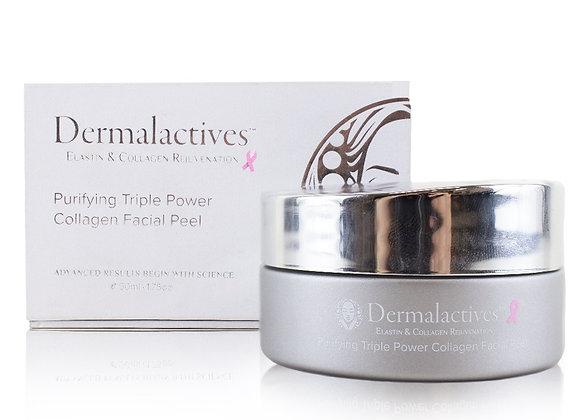 Dermalactives Purifying Triple Power Collagen Facial Peel Eliminate Clogged Pore