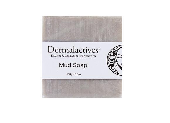 Dermalactives Enriched Dead Sea Minerals Bar Mud Soap Cleans Oil-Based Debris