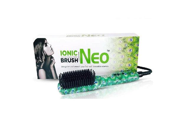 Neo Square Heated Brush De-tangle Hair Straightener Quick & Easy Straightening