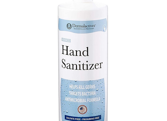 Dermalactives Hand Sanitizer Moisturizing Gel, Kills Most Germs, Made in USA