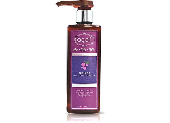 Acai Moisture Vitality Shampoo Moisturizing Formula Gently Cleanses Hair