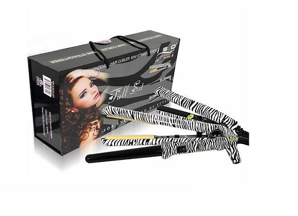 ISO Beauty Hair Straightener + Curler + Mini Iron Full Set
