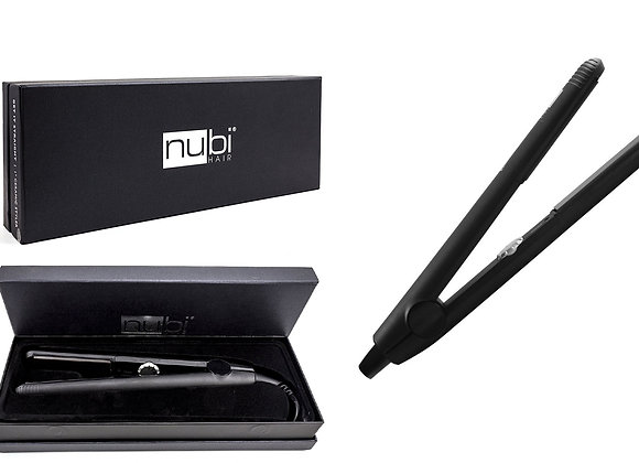 Nubi Get It Straight 1 Inch Ceramic Hair Straightener Flat Iron Adjustable Temp