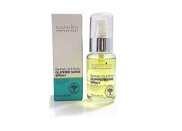 Kashmira Baobab Oil & Biotin Glimmer Shine Spray Provides Heat and UV Protection