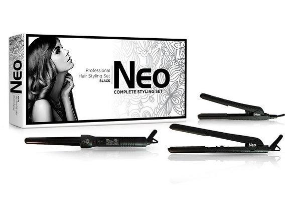 Neo Hair Styling Set W/ Hair Straightener + Curling Iron Wand + Mini Flat Iron