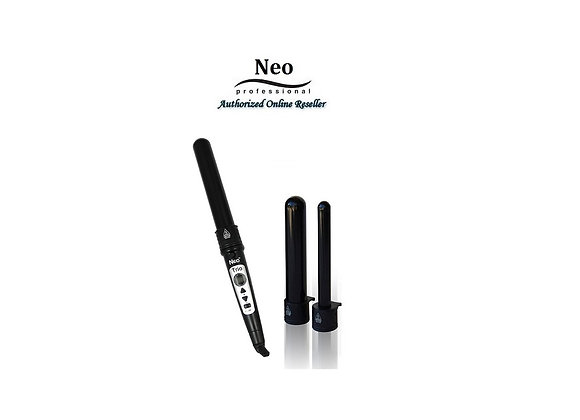 Neo Digital 3P Trio Black Curling Iron Wand Set