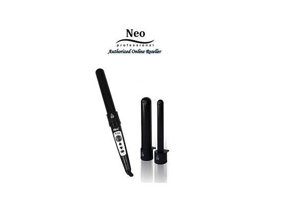 Neo Digital 3P Trio Black Curling Iron Wand Set