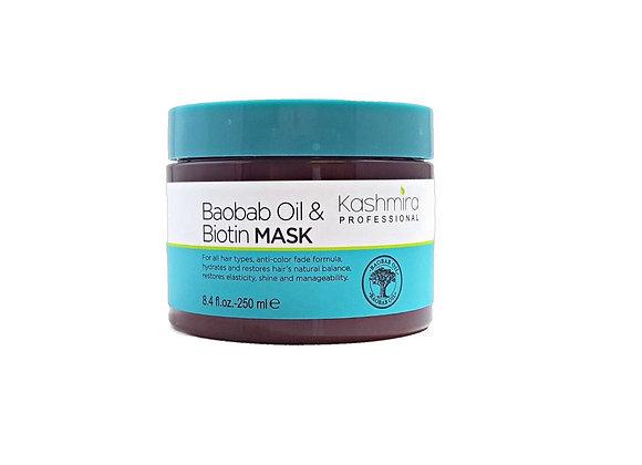 Kashmira Baobab Oil & Biotin Hair Mask - Anti-Color Fade Formula Restores Shine