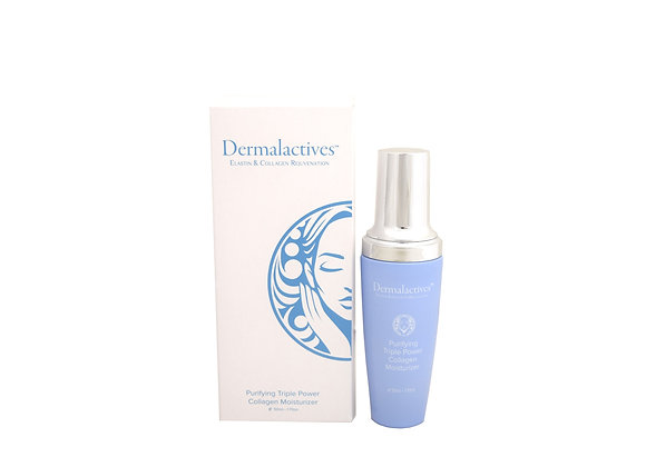 Dermalactives Purifying Triple Power Collagen Moisturizer Nourishes The Skin