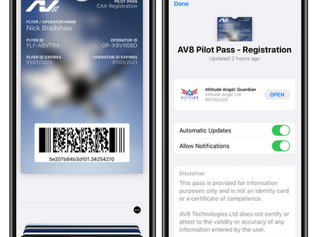 AV8 Announces Digital Pilot Passes for Drone Registration