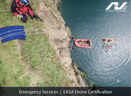 AV8 make their EASA drone courses available to emergency services on a not-for-profit basis.