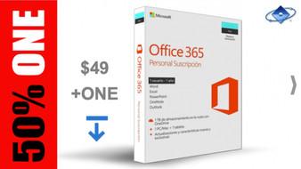 MICROSOFT OFFICE 365 PERSONAL SUSCRIPCIÓN ANUAL + SOPORTE ONLINE PARA PANAMA $49 + ONE