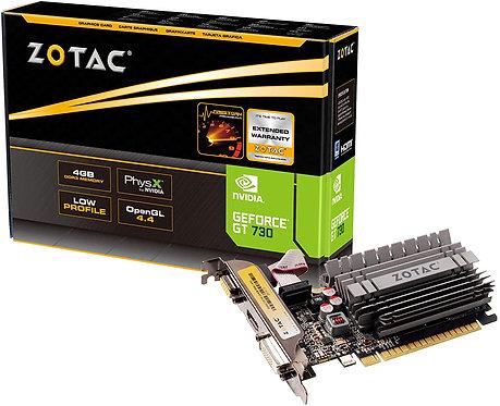 ZOTAC GeForce GT 730 Zone Edition 4GB DDR3 PCI Express 2.0 x16 (x8 lanes) Graphi