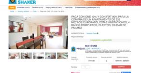 Venta de propiedades y tierras en DealShaker Panamá con ONE y dinero Fíat.