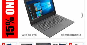 "15% ONE PARA NOTEBOOK LENOVO V330 14"" AMD 2.0GHZ, HDD 1TB, 8GB RAM, WINDOWS 10 PRO (VALOR $699 USD)"