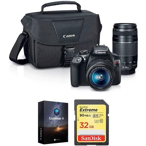 Canon EOS Rebel T6 DSLR Camera 18-55mm + 75-300mm Lenses +Free Accessory Kit