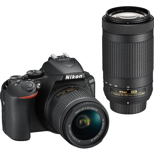 Nikon D5600 DSLR Camera + Lens 18-55mm + 70-300mm