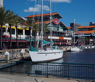 Nepenthe moored at Jacksonville's Landin