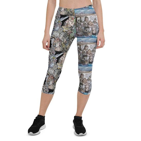 Bakshi NYC Friends All-Over Print Capri Leggings
