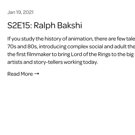 Bakshi on Voyagers Podcast: January 20,2021