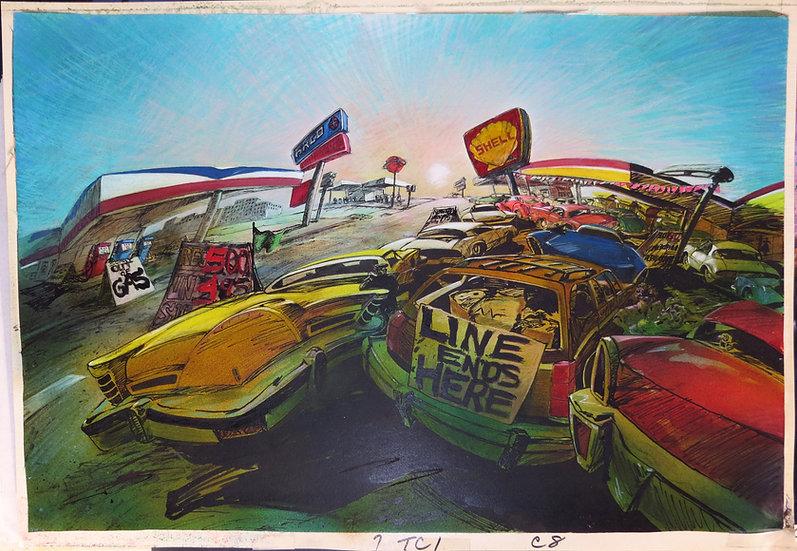 American Pop Original Background Art - Marcia Adams