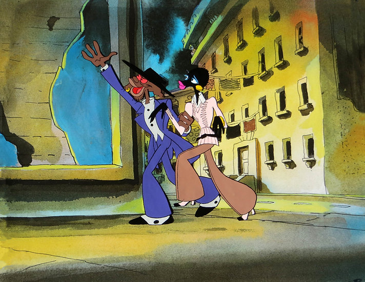 Coonskin Original Animation Cel - Preacher Fox